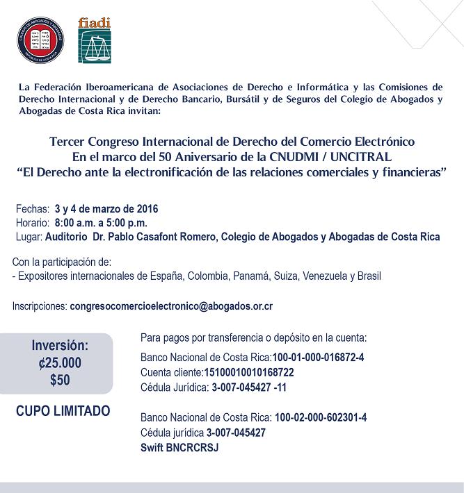 Invita Tercer Congreso Internacional de Derecho del Comercio-01